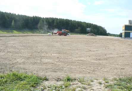 Rénovation terrains sportifs, travaux terrain football